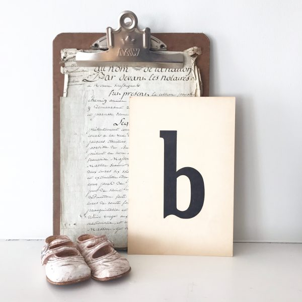 Lovely vintage flash card - B (sold individually)