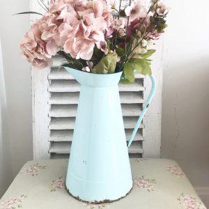 Beautiful vintage enamel jug