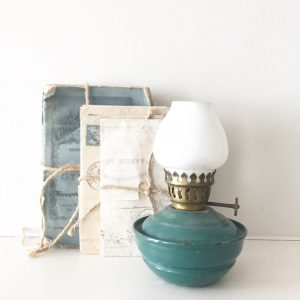 Delightful green/blue vintage nursery lamp