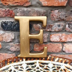 Beautiful gold reclaimed letter E (22cm)