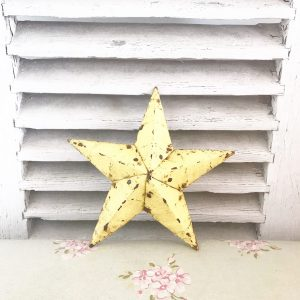 Wonderful pale yellow Amish barn star