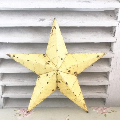 Gorgeous pale yellow Amish barn star (11 inches)
