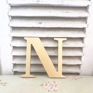Lovely little reclaimed gold letter N (19cm)