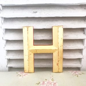 Cute little reclaimed gold letter H (20cm)