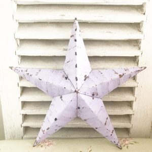 Wonderful large lilac Amish barn star (15 inch)