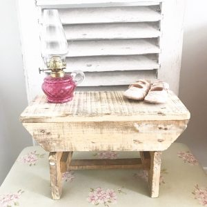 Adorable little rustic wooden stool