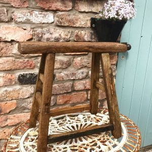 Gorgeous large vintage Hungarian milking stool
