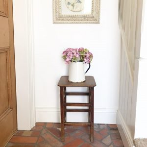 Lovely tall vintage wooden stool