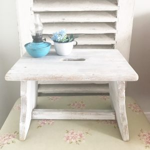 Cute little painted vintage milking stool
