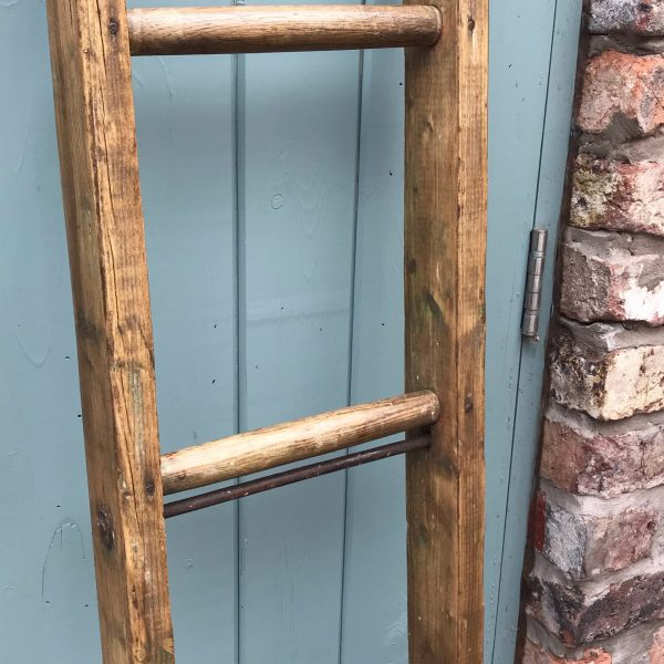 Beautiful large vintage rustic wooden ladder