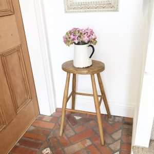 Wonderful tall vintage wooden stool