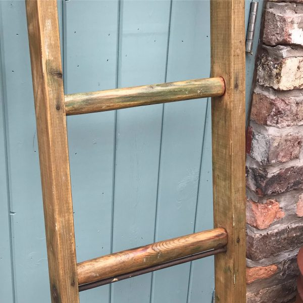 Beautiful small vintage rustic wooden ladder