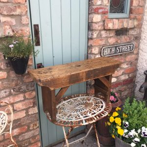 Beautiful decorative vintage wooden bench