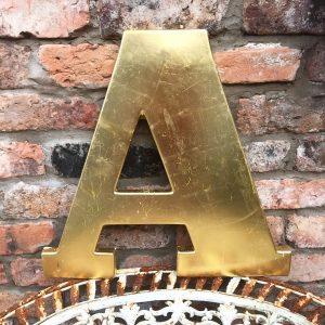 Lovely large reclaimed gold shop letter A (45cm)