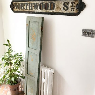Amazing antique distressed wooden shutter (#1)