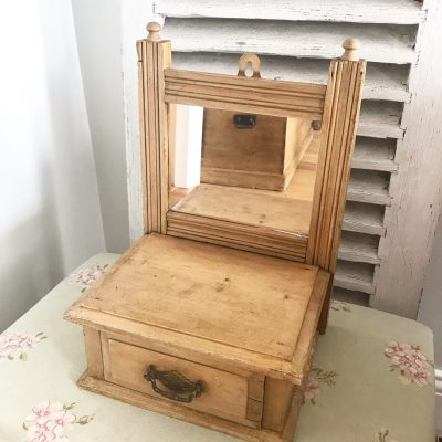 Lovely little vintage pine display cabinet