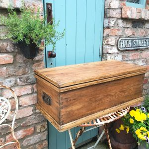 Beautiful old wooden blanket box