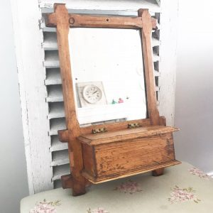 Wonderfully worn vintage shaving vanity mirror