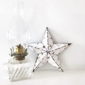 Lovely little white Amish Barn Star
