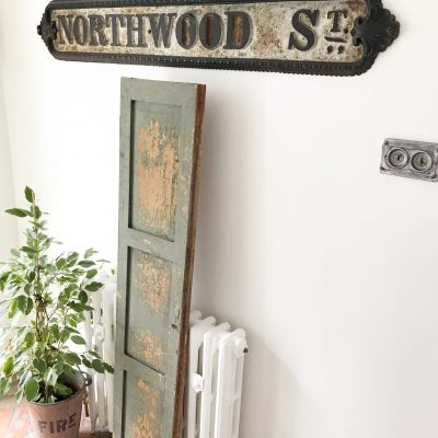 Amazing antique distressed wooden shutter (#3)