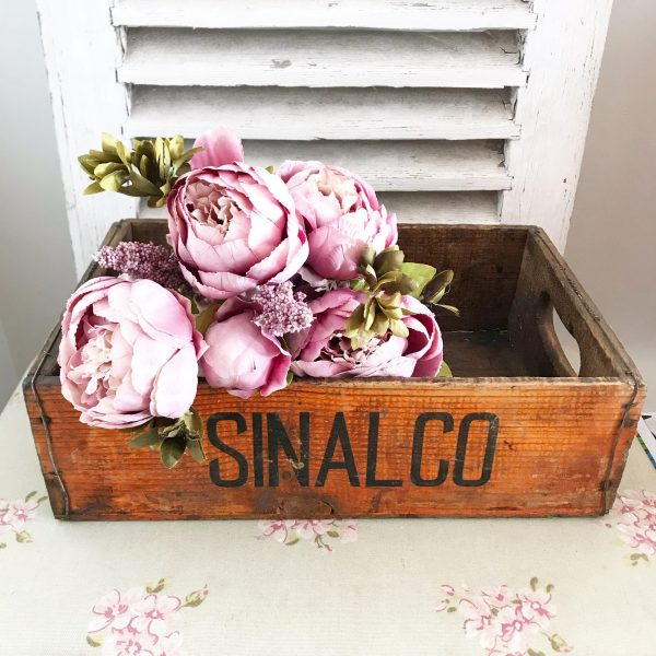 Rare vintage Sinalco drinks crate