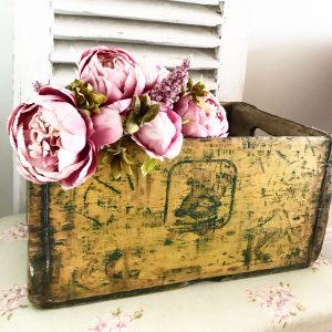 Wonderful old wooden crate