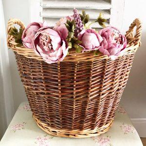 Lovely large vintage wicker basket
