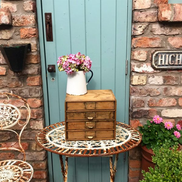 Beautiful little vintage wooden filing drawers