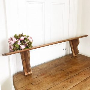Beautiful old antique pine farmhouse shelf