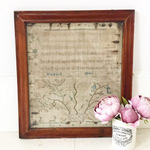 Wonderful framed antique sampler dating from 1800's