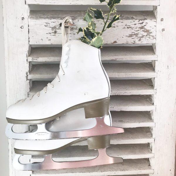 Fabulous set of ladies vintage white ice skates