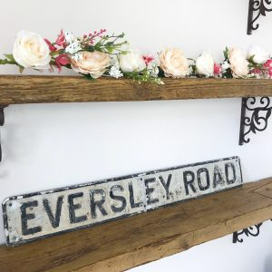 Beautiful vintage aluminium street sign