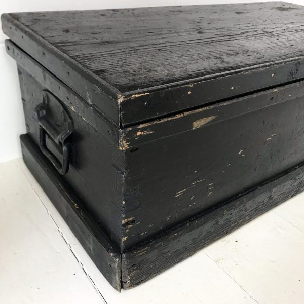 Charming painted vintage storage trunk