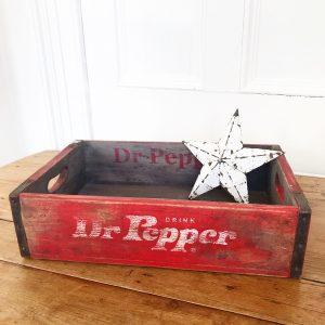 Wonderful vintage advertising crate