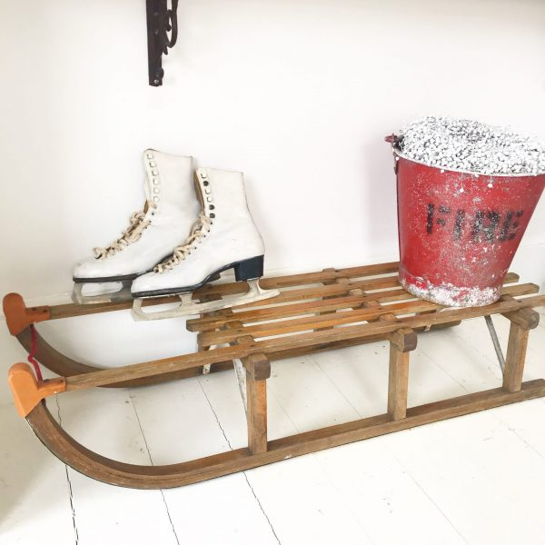 Gorgeous old large wooden sleigh (#4)