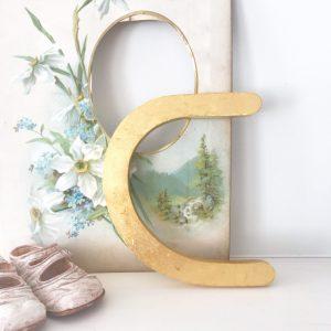 Wonderful gold reclaimed letter C (17cm)