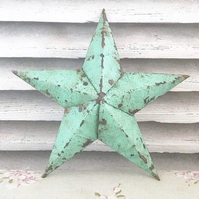 Beautiful light green Amish Barn Star (11 inches)
