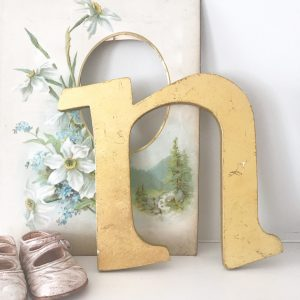 Wonderful gold reclaimed letter N (20cm)