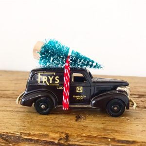 Lovely little vintage toy car advertising Fry's Cocoa