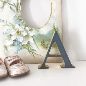 Lovely little reclaimed letter A (10cm - Freestanding)