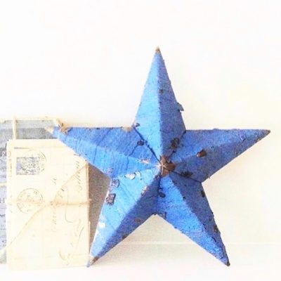 Gorgeous blue Amish barn star (11 inches)