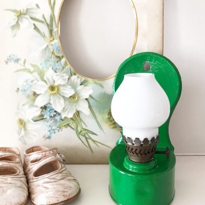 Cute little vintage wall mountable oil lamp