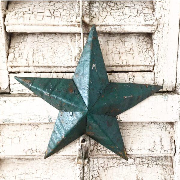 Beautiful small dark green Amish Barn Star