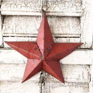 Beautiful small dark red Amish Barn Star