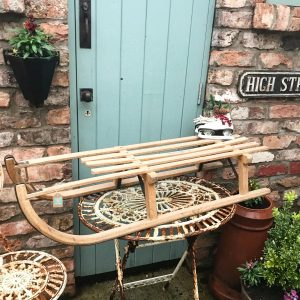 Beautiful large vintage wooden sleigh (110cm)