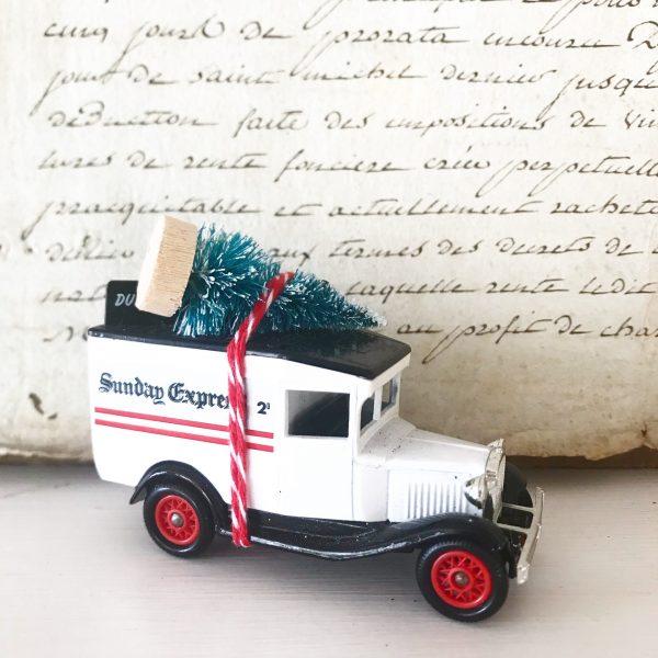 Lovely little Sunday Express van with bottle brush