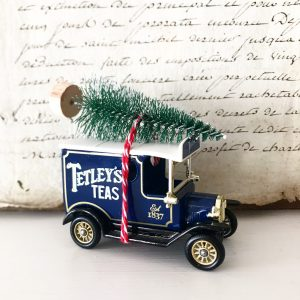 Lovely little Tetley Tea van with bottle brush tree