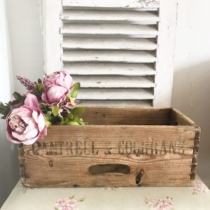 Beautiful old wooden Cantrell & Cochrane crate