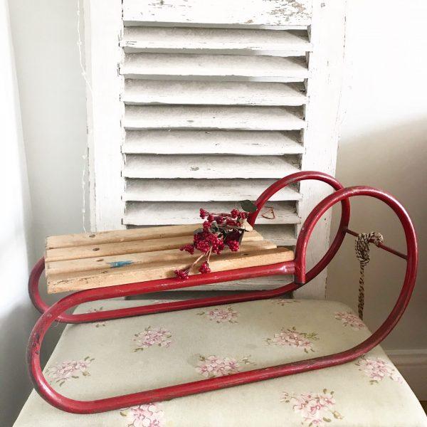 Wonderful industrial vintage horned childs sleigh