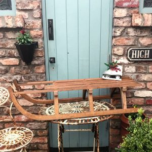 Gorgeous double vintage wooden sleigh (115cm)